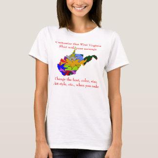 Personalizado de la camisa de Virginia Occidental