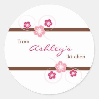 Personalizado de la cocina de los pegatinas de etiqueta redonda