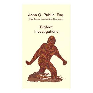 Personalizado de la criatura de Bigfoot Sasquatch Tarjetas De Visita