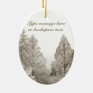 Personalizado de la decoración de los árboles de adorno navideño ovalado de cerámica