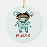 Personalizado de la enfermera del empleo personali ornamento de reyes magos
