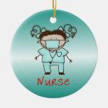 Personalizado de la enfermera del empleo personali ornamento de navidad