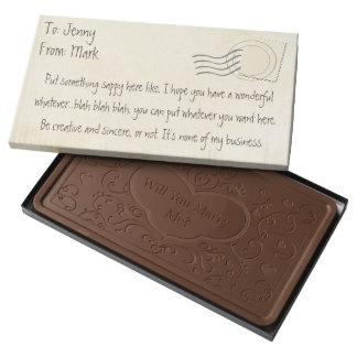 Personalizado de la entrega especial chocolate con leche personalizado
