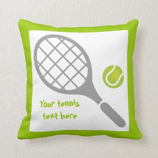 Personalizado de la estafa y de la bola de tenis almohada