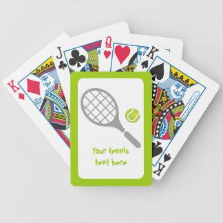 Personalizado de la estafa y de la bola de tenis barajas de cartas