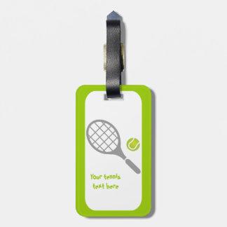 Personalizado de la estafa y de la bola de tenis etiquetas de maletas