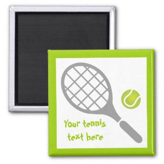 Personalizado de la estafa y de la bola de tenis imán cuadrado