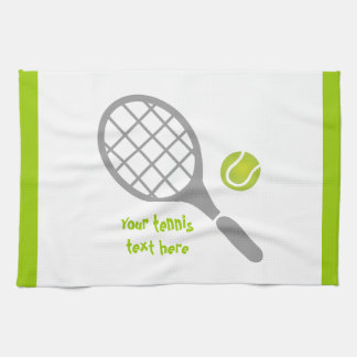 Personalizado de la estafa y de la bola de tenis toallas de cocina
