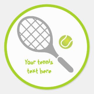 Personalizado de la estafa y de la bola de tenis pegatina redonda