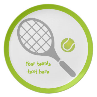 Personalizado de la estafa y de la bola de tenis plato de comida