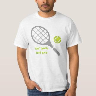Personalizado de la estafa y de la bola de tenis playera