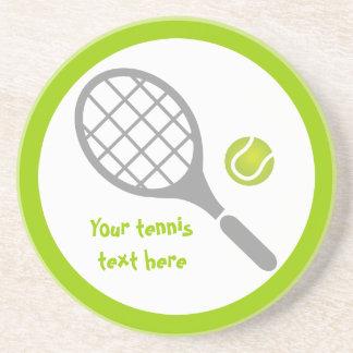 Personalizado de la estafa y de la bola de tenis posavaso para bebida