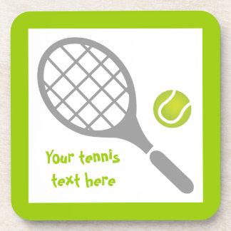 Personalizado de la estafa y de la bola de tenis posavaso