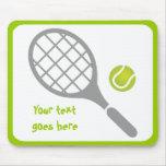 Personalizado de la estafa y de la bola de tenis alfombrilla de ratones