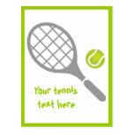 Personalizado de la estafa y de la bola de tenis tarjetas postales