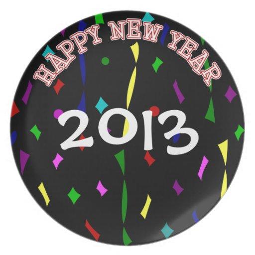 Personalizado de la Feliz Año Nuevo anticuado Plato De Cena