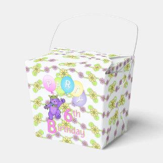 Personalizado de la fiesta de cumpleaños del oso caja para regalo de boda