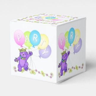 Personalizado de la fiesta de cumpleaños del oso cajas para regalos
