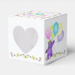 Personalizado de la fiesta de cumpleaños del oso d paquetes para detalles de bodas