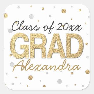 Personalizado de la fiesta de graduación del pegatina cuadrada