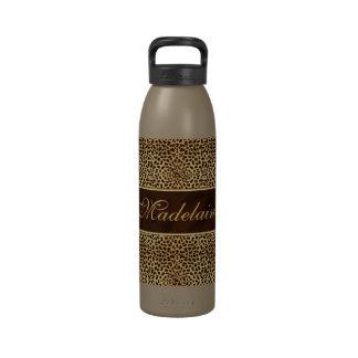 Personalizado de la impresión y del estilete del g botellas de agua reutilizables