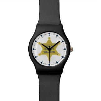 Personalizado de la insignia del ayudante del sher relojes de pulsera