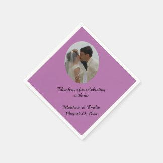 Personalizado de la lila personalizado casando servilleta desechable