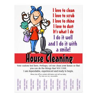 Personalizado de la limpieza de la casa promociona tarjeta publicitaria