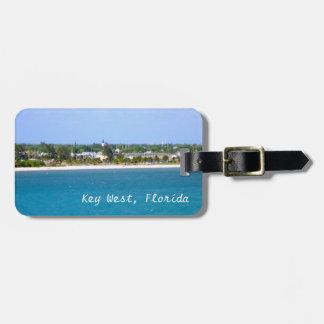 Personalizado de la línea de la playa de Key West Etiquetas Maletas