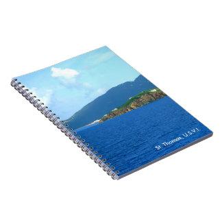 Personalizado de la llegada de St Thomas Spiral Notebook