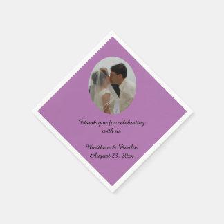 Personalizado de la orquídea personalizado casando servilletas de papel