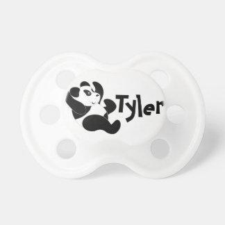Personalizado de la panda chupetes de bebé