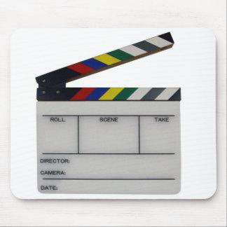 Personalizado de la pizarra del cineasta de la pel alfombrilla de raton
