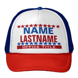 Personalizado de la plantilla de la campaña gorras de camionero