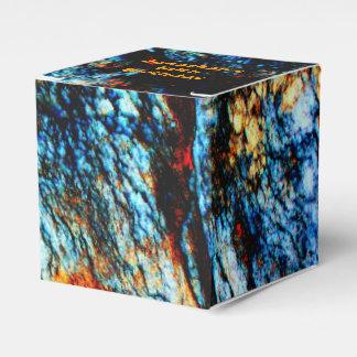 Personalizado de la roca de la turquesa cajas para detalles de boda