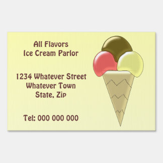 Personalizado de la sala de helado letreros