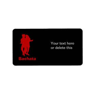 Personalizado de la silueta de los bailarines de etiqueta de dirección
