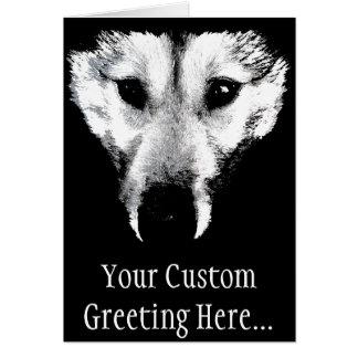 Personalizado de la tarjeta del perro del lobo del