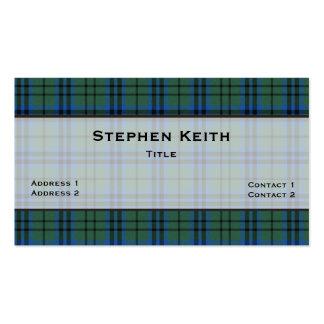 Personalizado de la tela escocesa de tartán de tarjetas de visita