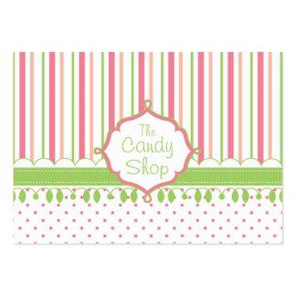 Personalizado de la tienda del caramelo rechoncho tarjeta de visita