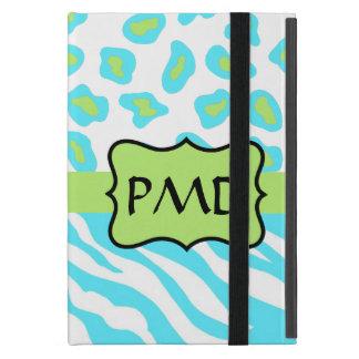 Personalizado de la turquesa, blanco y verde de la iPad mini protector
