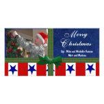 Personalizado de los militares del navidad tarjeta fotografica personalizada
