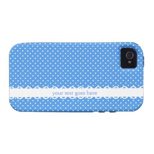 Personalizado de lujo de los puntos retros blancos iPhone 4/4S fundas