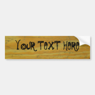 Personalizado de madera del escritorio pegatina para auto