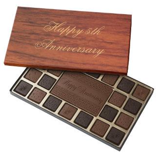 Personalizado de madera elegante de la impresión caja de bombones variados con 45 piezas