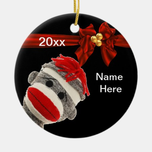 PERSONALIZADO DE MODA LINDO del ornamento del MONO Ornaments Para Arbol De Navidad