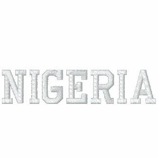 PERSONALIZADO DE NIGERIA SUDADERA BORDADA CON CAPUCHA