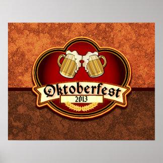 Personalizado de Oktoberfest 2013 anticuado Poster