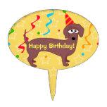 Personalizado de Weiner del feliz cumpleaños Figura Para Tarta