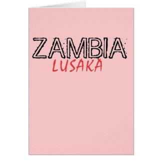 Personalizado de Zambia de la capilla del represen Tarjeta De Felicitación